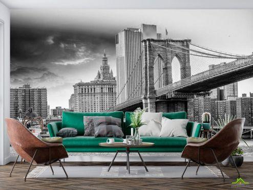 Архитектура Фотообои Древний мост Бруклинский
