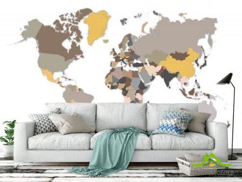 обои Карта Фотообои Разноцветная карта