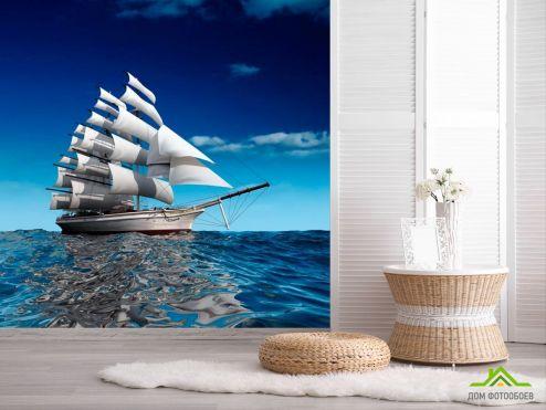 Корабли Фотообои Фрегат о белых парусах