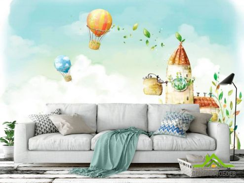 Иллюстрации Фотообои Воздушные шары