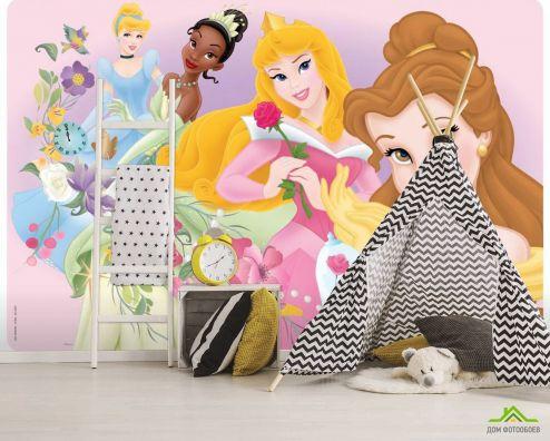 обои Принцессы Фотообои Четыре принцессы