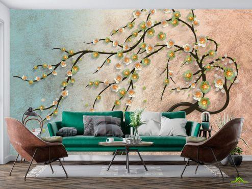 3Д  Фотообои Дерево лепка