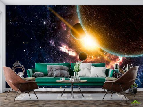 Космос Фотообои Галактика и планеты