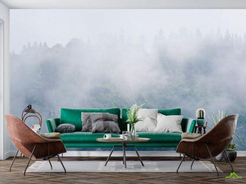 в скандинавском стиле Фотообои туман в лесу