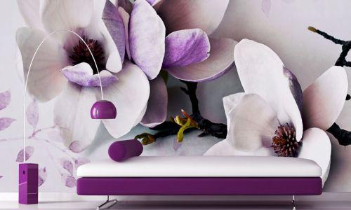 Фотообои в интерьере гостиной с фото - Фотообои в кухню Цветы