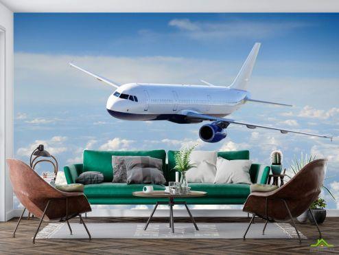 Фотообои Природа по выгодной цене Фотообои самолёт в небе