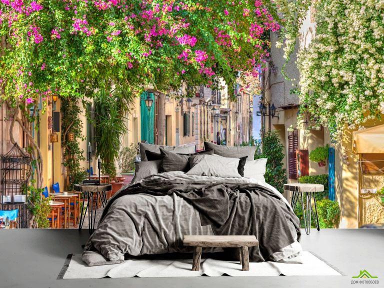 Фотообои Зеленая уютная улочка