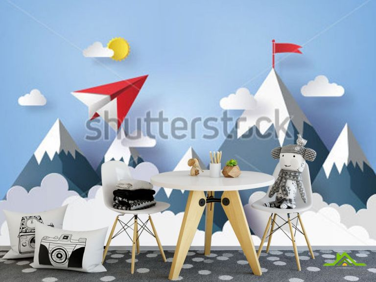 Фотообои Бумажный самолетик