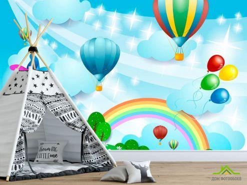 для малышей Фотообои Воздушные шарики