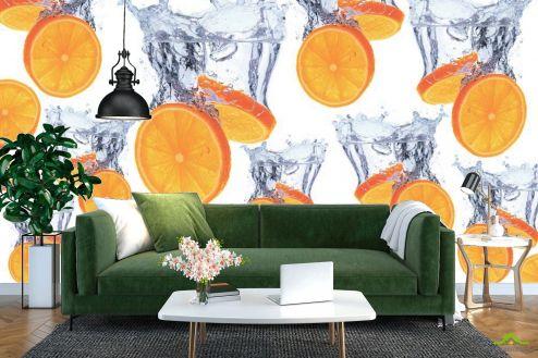 Оранжевые  Фотообои Апельсин