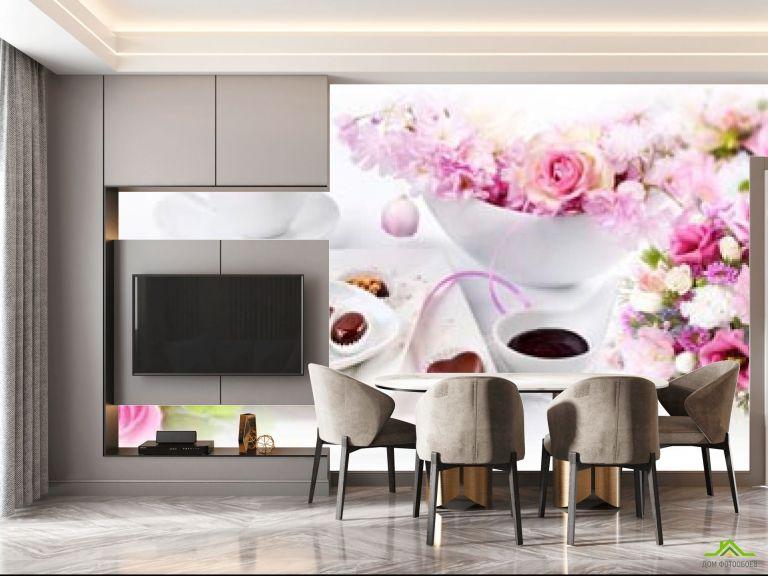 Фотообои в кухню Цветы