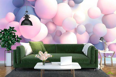 3Д  Фотообои Розовые 3д шары