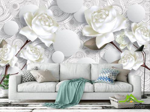 3Д обои Фотообои 3D розы