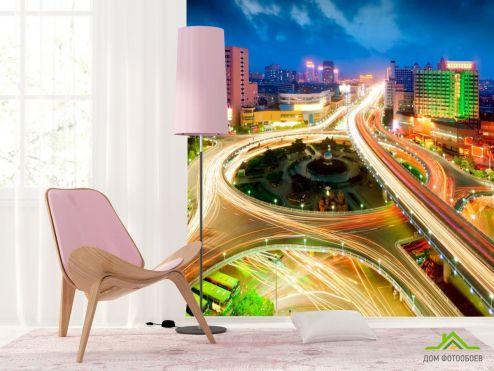 Мосты Фотообои Цветная дорога купить