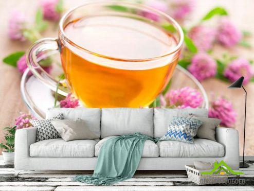 Еда и напитки Фотообои Чай, клевер купить
