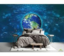 Фотообои полоски вокруг Земли