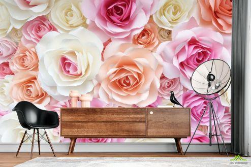 Розы Фотообои розы нежных цветов