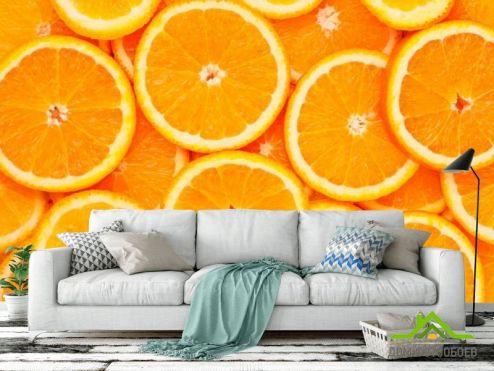 Каталог фотообоев Фотообои Нарезанные апельсины