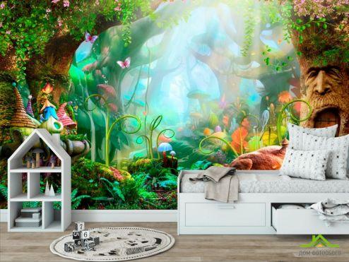 обои в детскую Фотообои Сказочный лес