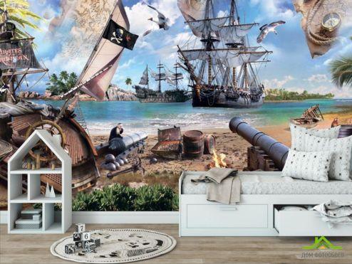 обои Пираты Фотообои Остров пиратов