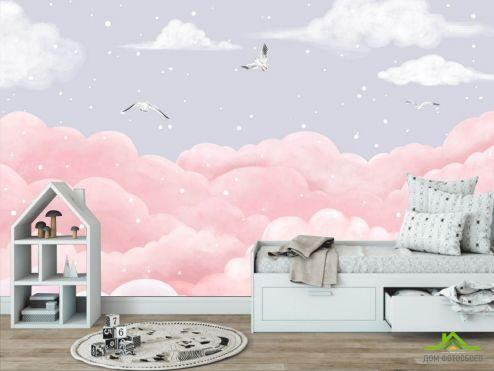 в детскую Фотообои Пастельное небо купить