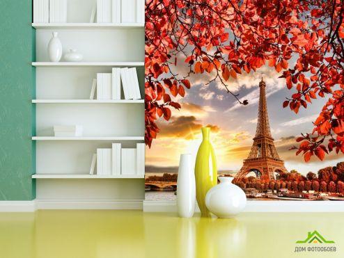 Фотообои Город по выгодной цене Фотообои Осенний Париж