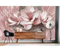 Фотообои Розовые 3д цветы