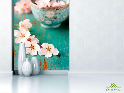 обои Цветы Фотообои Цветы абрикоса в пиалке