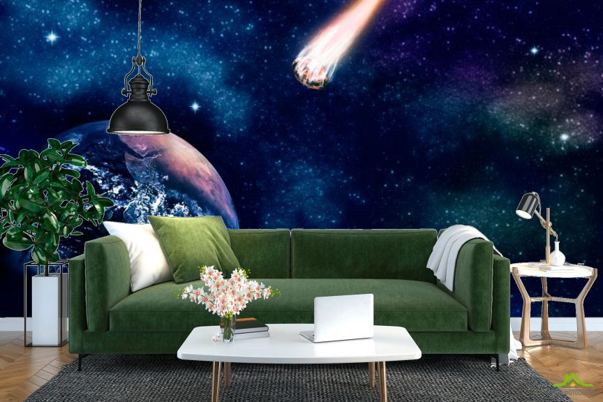 Фотообои Земля и комета