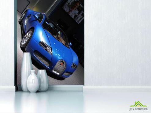 обои Транспорт Фотообои синий Bugatti Veyron