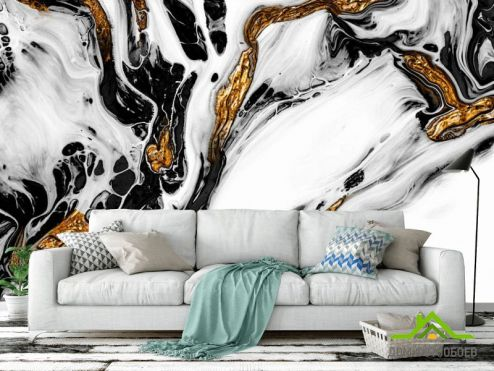 Fluid art Фотообои Мраморный флюид