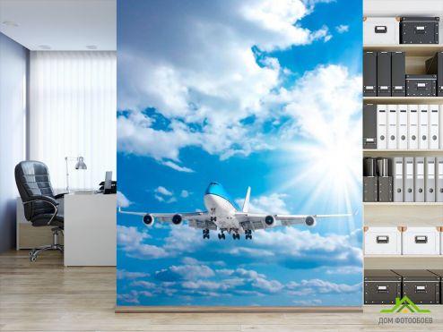 обои Самолеты Фотообои Самолет в облаках