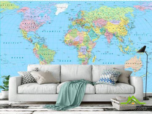 обои Карта Фотообои Политическая карта