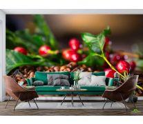 Фотообои ягоды и кофе