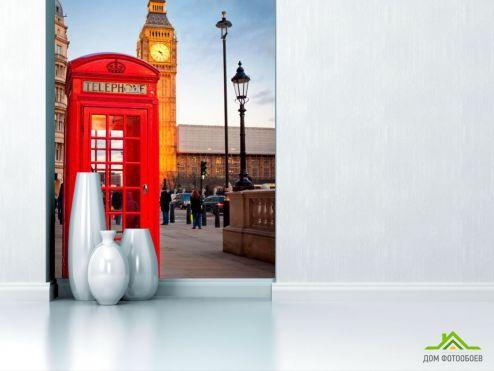 обои Старый город Фотообои Лондон, телефонная будка