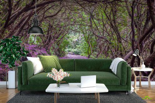 Расширяющие пространство Фотообои Арка из цветов купить