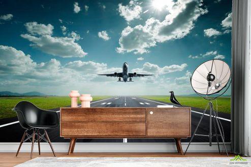 Транспорт Фотообои Взлет самолета