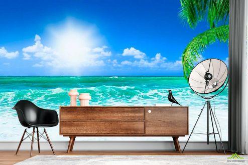 Пляж Фотообои Полдень на побережье