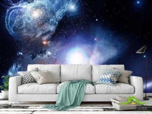обои Космос Фотообои космос с яркой звездой