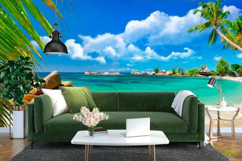 Пляж Фотообои Лагуна голубая