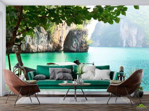 Фотообои Природа по выгодной цене Фотообои лодка в гавани