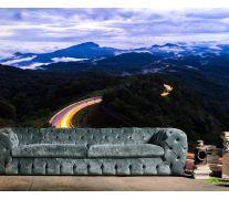 Фотообои горная вечерняя дорога