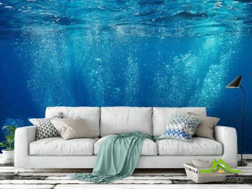 Фотообои Море по выгодной цене Фотообои Пузырьки под водой