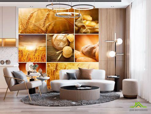 Еда и напитки Фотообои Пшеница, хлеб купить