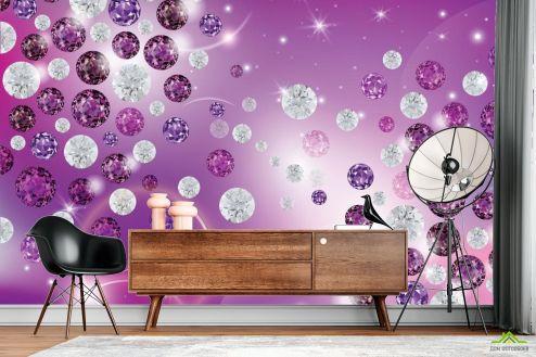 Фиолетовые  Фотообои Бриллианты