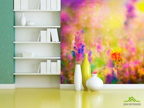 обои Цветы Фотообои Поле лавандовое