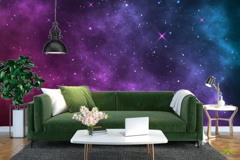 Фотообои Космос по выгодной цене Фотообои Фиолетовое звёздное небо