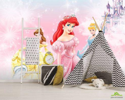 обои Disney Фотообои 3 Принцессы диснея