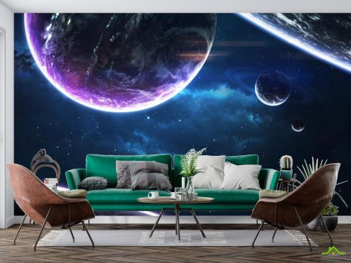 Космос Фотообои сияние планет