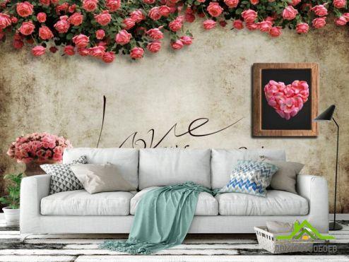 обои Цветы Фотообои Цветочная стена